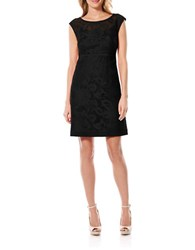 Laundry By Shelli Segal Textured Cap Sleeve Dress Black