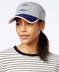 Roxy Juniors' Next Level Graphic Baseball Cap Pink Grey