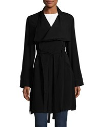 Lamade Alexa Wrap Front Belted Trench Coat Black
