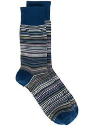 Missoni Striped Socks Blue