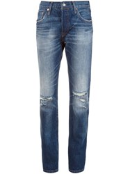 Levi's Distressed Straight Jeans Blue
