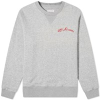 Alexander Mcqueen Chain Stitch Logo Crew Sweat Grey