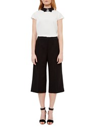 Ted Baker Oderat High Waisted Culottes Black