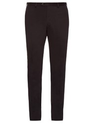 Brioni Montana Slim Leg Cotton Blend Chino Trousers Navy