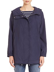 Eileen Fisher Weather Resistant Oversized Hooded Jacket Midnight