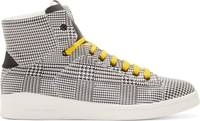 Alexander Mcqueen Black And White Prince Of Wales Print High Tops