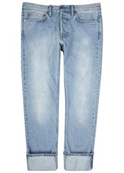 Our Legacy First Cut Blue Straight Leg Jeans Light Blue