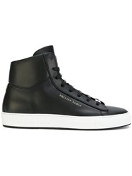 Philipp Plein Lace Up Hi Tops Men Calf Leather Leather Foam Rubber 43 Black