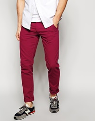 New Look Skinny Chino Red