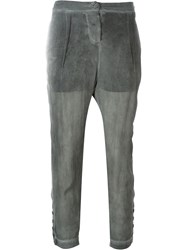 Lost And Found Sheer Tapered Trousers Grey