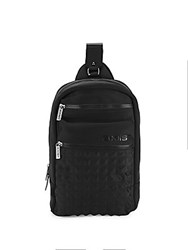 2Xist Solid Diamond Quilted Backpack Black