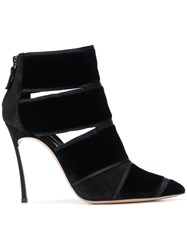 Casadei Pointed Strappy Pumps Black