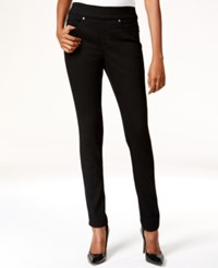 Styleandco. Style And Co. Pull On Slim Straight Leg Jeans Black Wash Only At Macy's Black Rinse