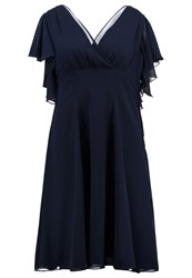 Swing Curve Cocktail Dress Party Dress Navy Dark Blue