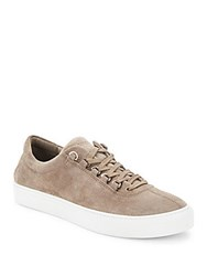 K Swiss Lace Up Suede Sneakers Taupe Off White