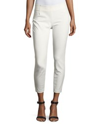 Lela Rose Catherine Slim Leg Ankle Pants White