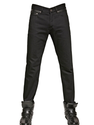 Givenchy 18.5Cm Leather And Cotton Slim Fit Jeans Black