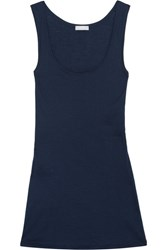 Hanro Ultralight Mercerized Cotton Camisole Midnight Blue