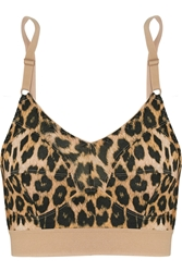 Base Range Messina Leopard Print Stretch Bamboo Soft Cup Bra