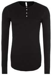 American Apparel Baby Thermal Long Sleeved Top Black