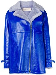 Emilio Pucci Blue Shearling Jacket