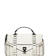 Proenza Schouler Ps1 M Studded Leather Bag White
