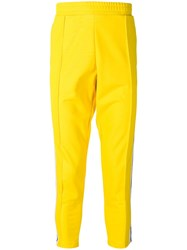Versus Logo Taped Track Trousers Yellow
