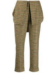 Hellessy Checked Foldover Waistband Trousers 60