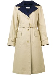 Tory Burch Belted Trench Coat Nude And Neutrals