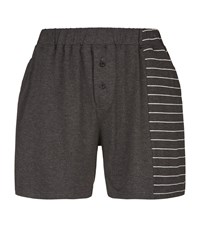 Homebody Striped Lounge Shorts Grey