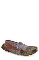 Men's Bedroom Athletics 'George' Slipper Chocolate Green Check