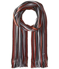 Michael Michael Kors Four Color Variagated Stripe Raschel Muffler Ash Clay Heather Charcoal Scarves Multi