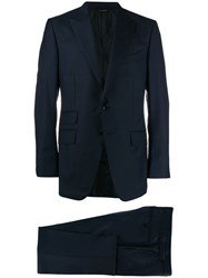 Tom Ford Classic Two Piece Suit Blue