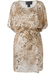 Philipp Plein Patterned Dress Nude Neutrals