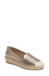 Bella Vita Women's Channing Cutout Espadrille Loafer Champagne Leather