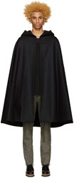 Christophe Lemaire Black Wool Hooded Cape