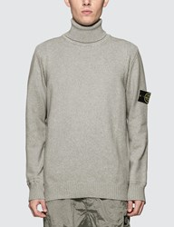 Stone Island Turtle Neck Knitted Sweater Grey