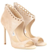 Jimmy Choo Blythe 110 Leather Sandals Beige