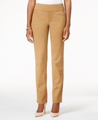 Charter Club Cambridge Pull On Slim Leg Jeans Only At Macy's Salty Nut