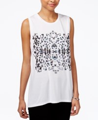 Rachel Roy Graphic Muscle T Shirt Only At Macy's Leopard