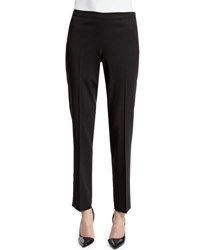 Lafayette 148 New York Bleecker Wool Stretch Pants Black