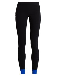 No Ka' Oi Contrast Trim Performance Leggings Black Blue