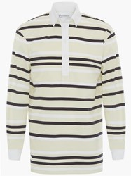 J.W.Anderson Jw Anderson Striped Rugby Jersey Polo Shirt Green