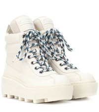 Marc Jacobs Shay Leather Hiking Boots White