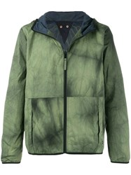 Paul Smith Ps By Hooded Raincoat Green