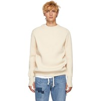 Remi Relief Off White Wool Sweater