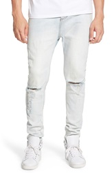 Zanerobe 'Low Blow' Ripped Slouchy Slim Fit Jeans Blonde Rip