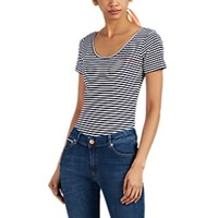 Maison Labiche Bon Voyage Striped Rib Knit Cotton Bodysuit Multi