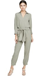 Brochu Walker Anze Jumpsuit Vetiver Green