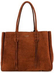 Lanvin Fringed Tote Brown